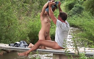 Astounding outdoors anal sex with aphoristic tits girlfriend Lucy