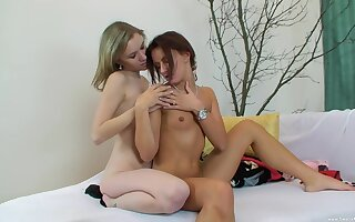 Lesbians softcore for four petite angels with small tits