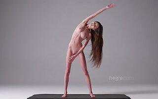 skinny fitness skirt Leona naked solo