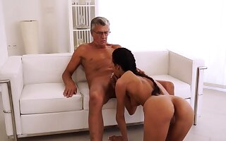 Old woman fucked hard and anal first time To be sure she's