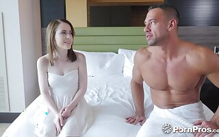 Cuni and missionary are made to please this flat chested girl Alice Merchesi