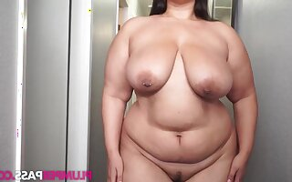 Buttercream - Hall Pass for Cream - BBW fatty with saggy tits solo