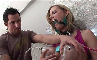 Blonde Cunt Nikki Austin Gets Fucked Well by Torture Machine - fake boobs in bondage