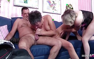 German Old Couple First Mff Threesome With Stranger Mature