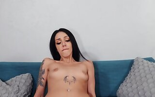 Scott Nails is fucking Roxy Rain at one's fingertips casting couch interview