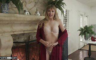 Ivy Wolfe wearing lace lingerie moans during passionate sexual intercourse