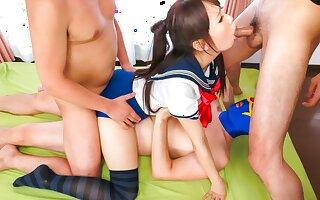 Horny Japanese whore Ai Mizushima in Best JAV uncensored Teen scene
