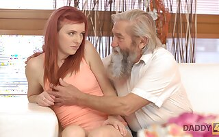 Emotional redhead Vanessa loves the way dudes fingerfuck her wet pussy