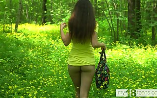 Katty West Walks in the Woods