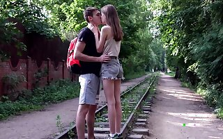 Cute Lia rides her boyfriend's facet and dick like an angel