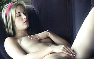Good-luck piece solo milk enema squirting with the addition of fingering pussy